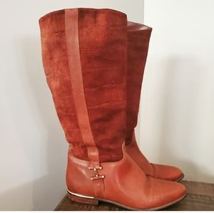 Vintage leather ridding boots